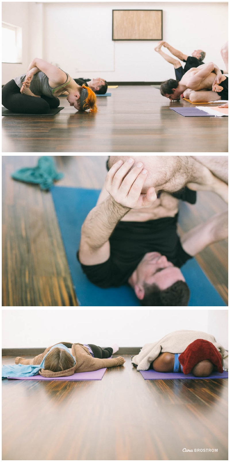 Finishing poses. Mysore style Ashtanga Yoga. Photography by Cara Brostrom.